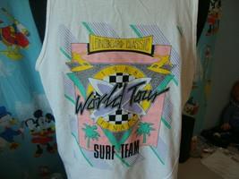 Vintage 80's Longboard Classic 1988 Surf Team World Tour t shirt Tank To... - $98.99