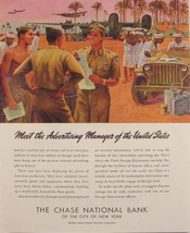 1945 CHASE NATIONAL BANK AMERICAN SOLDIERS WWII PLANES Print Ad MITCHELL... - $9.99