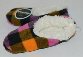 Snoozies 200192P Foot Coverings Pink Buffalo Plaid Kids 13 Through 1 image 4