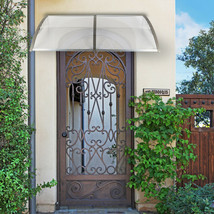Household Application Door Window Rain Cover Eaves Canopy Silver & Gray ... - $96.16