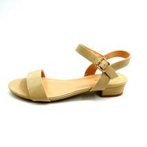 Top Moda Womans Bertie 1 Ankle Strap Sandal Beige Open Toe Cushion Sz 8.... - $17.80