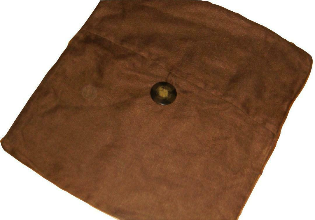 "Pottery Barn Espresso Brown Solid 100% Linen Decorative Pillow Cover 18"" X 18"" - $34.62"