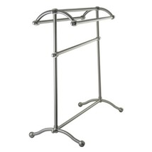 Kingston Brass SCC2298 Pedestal Towel Rack, Brushed Nickel - $150.69