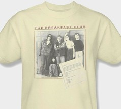 Breakfast Club T-shirt Free Shipping retro 80's movie cotton beige tee UNI362 image 1