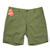Dockers Mens Shorts Size 38 Olive Green Straight Fit Flat Front Pacific ... - $28.49