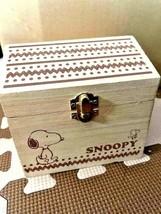snoopy wood empty box rare wood box #3 - $30.00