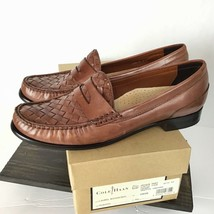 Cole Haan Womens Size 8 AA N Laurel Woven Moc Loafer Shoes Brown Basket ... - $71.88