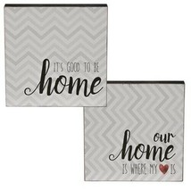 """Our Home Two-Sided Wooden Sign Home Table Shelf Decoration Sign 6"""" x 6"""" - $15.85"""