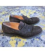 Mens BOTTEGA VENETA Brown Suede Leather Woven Loafer Shoes Lug Soles 43 10  - $353.23