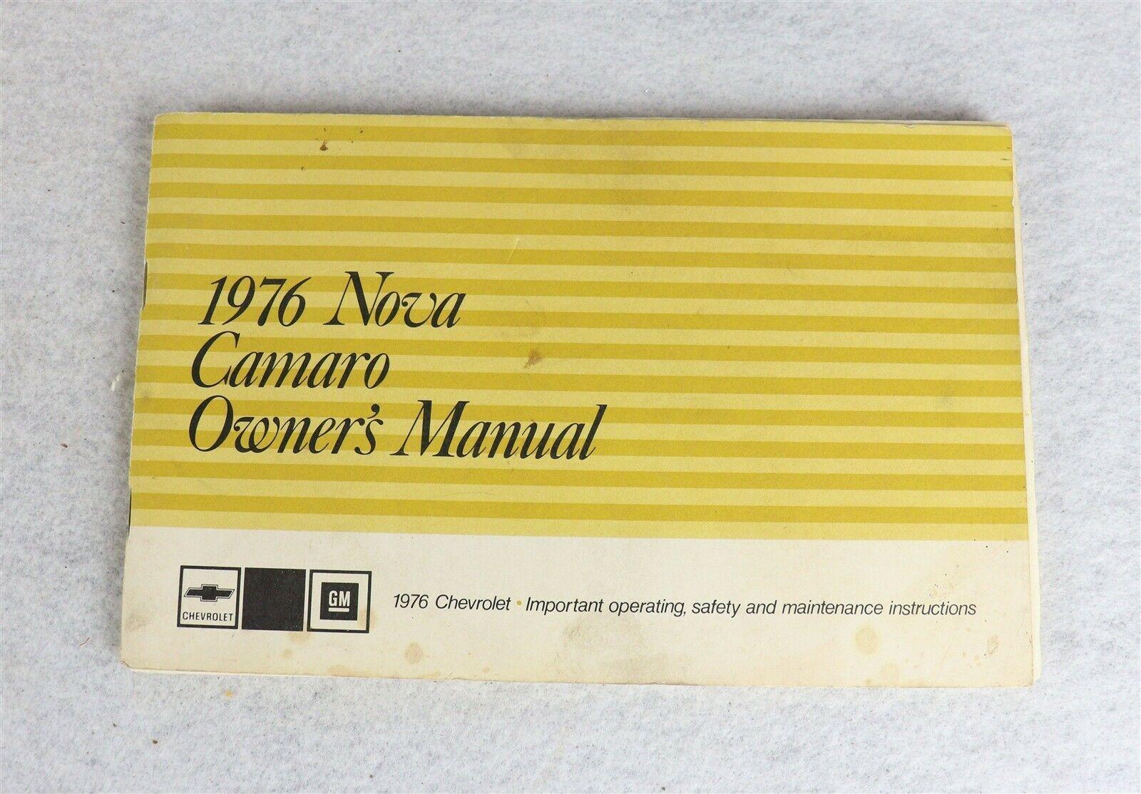 1976 Chevrolet Nova Camaro Owner's Manual