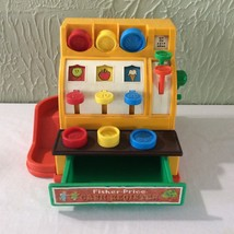 Fisher Price Cash Register 6 Coins Works Good 1974 Childs Toy Vintage - $19.80