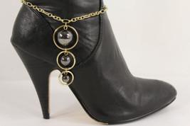 Moda Donna Stivali Catenina Oro Metallo Grande Peltro BALLS Scarpe Cintu... - $24.74