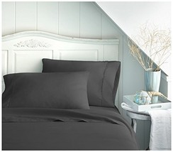 Becky Cameron BC-4PC-CALKING-BLACK ienjoy Home 4 Piece Double Brushed Microfiber - $30.76