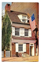 Philadelphia PA Betsy Ross House American Flag Vintage Mike Roberts Post... - $4.99