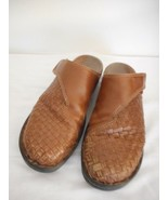 Clarks slip on Womens Size 9M Leather Brown Slides Clogs Mules - $19.79