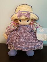 Precious Moments 2006 Sam B Soft Plush Doll w/ Straw Hat & Purple Dress (NEW) - $29.65