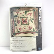 Dimensions Needlepoint Kit Honeysuckle Butterfly Pillow 20021 Suzanne Ni... - $29.69
