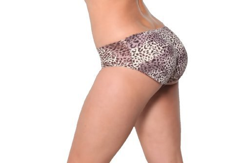 Fullness Wild Leopard Air-flow Padded Panty Buttocks Enhancer Style KL8079 - L