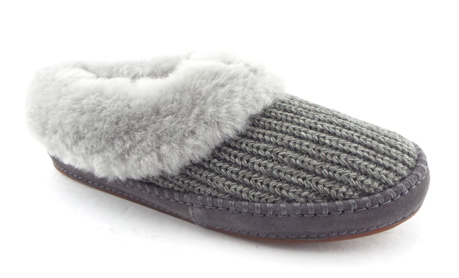 8cffaf32826 New UGG Size 11 WRIN Gray Knit Slippers w/ and 50 similar items