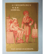 Victorian Trade Card, 1890s, Dr. Browning's Cordial Tonic, Philadelphia, PA - $1.58