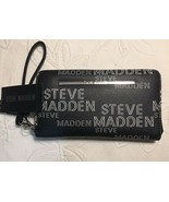 Steve Madden Wallet Black With Printed White Sporty Logo Zip Around Ship... - $37.99
