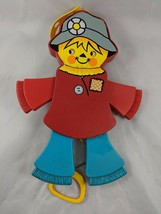 """Fisher Price Jolly Jumping Scarecrow Pull String Toy 1978 423 11"""" - $5.56"""