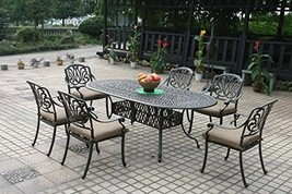 Elisabeth patio dining set Cast Aluminum Outdoor Furniture 7pc - $1,361.25