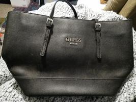 Guess black PVC tote bag handbag with adjustable straps - $35.00