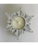 egbhouse, Snowflake #9 Cement Candle holder - $21.78