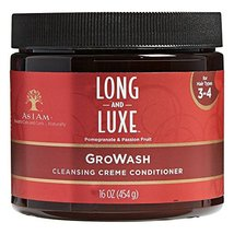 As I Am Long And Luxe Pomegranate & Passion Fruit (16oz, GroWash Cleansi... - $18.77