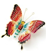 Kubla Articulated fancy reddish-orange  butterfly ornament. Gorgeous!! Insect... - £9.99 GBP