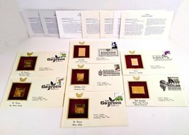Lot of 7 Go Green, Scouting, Love and other FDI 22kt Gold Replica Cover ... - $34.15