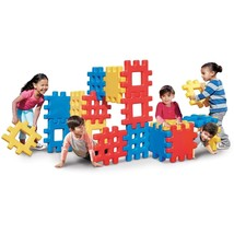 Big Waffle Block Set Outdoor Game Toy Building Multi Colored Plastic Lig... - $400.00