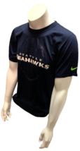 Nike Dri Fit Men's Seattle Seahawks Football Navy Short Sleeve Shirt NFL T-Shirt - $19.99