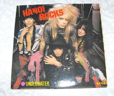 Black Vinyl Record 7 Inch Hanoi Rocks Underwater World CBS A4732 UK