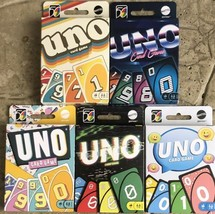 Mattel UNO Retro Version Family Card Game Complete Set of 5 - New FREE S... - $31.95