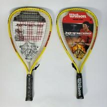 Wilson Hyperalloy Xpress Turbo Tubes Racketball Racket Set of 2 Grip 3 7/8 - $24.70