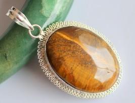 Tiger's Eye Silver Overlay Handmade Pendant Jewelry-oj-418-30_227 - $4.49