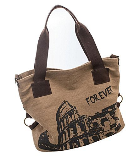 Fashion Canvas Retro Handbag Shoulder Bag Messenger Bag Small KHAKI