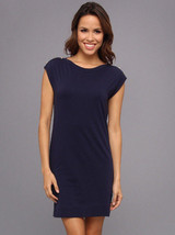Lilly Pulitzer Sz M Robyn Sleeveless Shift Dress True Navy 6 Gold Buttons EUC image 2