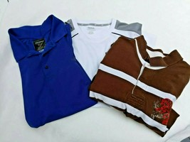 Lot Of 3 Men's  Large Short Sleeve Shirts Polo  and T shirt - $11.88