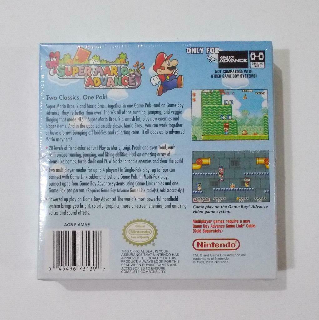 Super Mario Advance Nintendo Game Boy Advance 2001 Sealed
