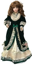 "36""  HANDMADE VICTORIAN LACE DRESS PORCELAIN DOLL ARTIST SIGNED LORETTA ... - $449.99"