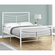 Twin Full Queen Size White Finish Metal Platform Bed Frame Headboard Foo... - $228.59+
