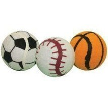 Multipet Ruff Enuff Tennis Sport Balls Dog Toy With Tags - $7.99