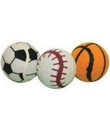 Multipet Ruff Enuff Tennis Sport Balls Dog Toy With Tags - £5.86 GBP