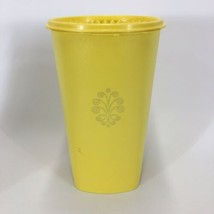 """Vintage Sunshine Yellow Tupperware Tall Canister 1222-4 Servalier 10.5"""" Tall - $10.65"""