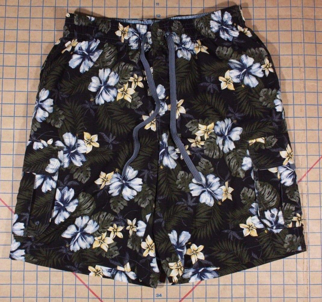 4353cb079c Island Shores Men's Blue Black Floral Swim and 50 similar items. S l1600