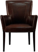 French Country Dining Accent Chair Bicast Leather Shabby Chic Arm Chair ... - $348.65