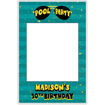 Sun Glass Fun By The Pool Birthday Party Selfie Frame Poster - $16.34+